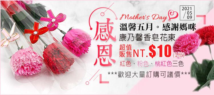 首頁大Banner-康乃馨香皂花束