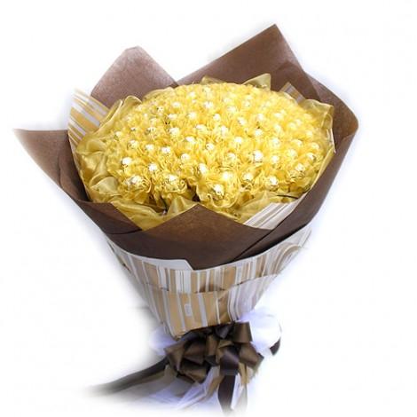 99朵情人節金莎花束 珍藏 花束 金莎花束 金莎巧克力花束 金莎 金莎巧克力 巧克力 情人節金莎花束