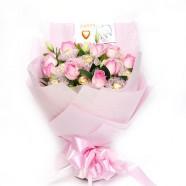 因為妳值得 玫瑰花金莎花束 生日禮物