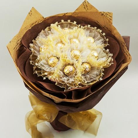 濃情11顆金沙巧克力花束