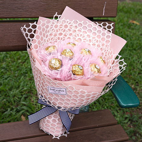 精選告白小禮物 夢幻金莎巧克力花束