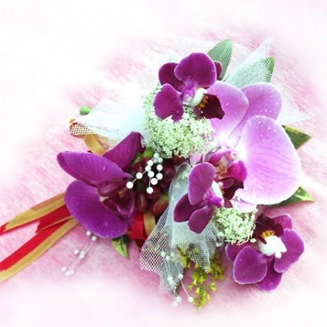 胸花-多朵蝴蝶蘭 胸花 緞帶 鮮花 記者會