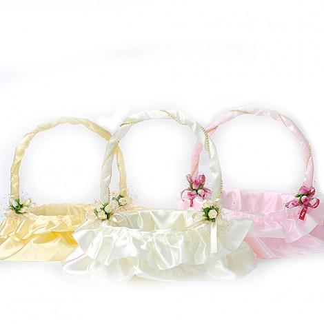 婚禮喜糖籃 真愛蕾絲喜糖籃-小 結婚用品 喜糖籃 提籃 花童籃