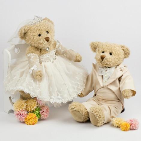 經典復古 幸福澎裙婚禮熊 結婚禮物 婚禮佈置 婚禮熊