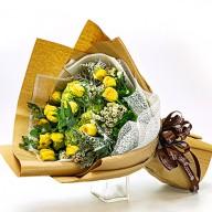 不愛也難  黃玫瑰花束 歡迎線上訂花