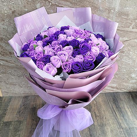 99朵玫瑰花香皂花束 情人節特惠 花店限量 玫瑰花 玫瑰花香皂花束 情人節