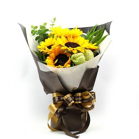 超值畢業禮物首選 陽光夢想向日葵花束