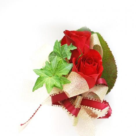 紅玫瑰花 胸花 婚禮 胸花 緞帶 鮮花 記者會