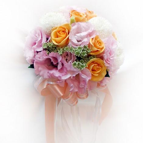 婚禮進場推薦 繽紛浪漫新娘捧花 新娘捧花 鮮花 婚禮進場花束