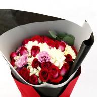 花店熱賣 永遠愛你紅玫瑰花束