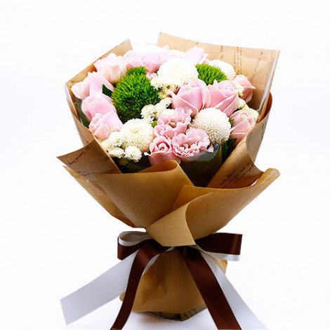 情人節花束 溫柔情人 粉玫瑰花束 情人節禮物 2007西洋情人節 情人節要送什麼