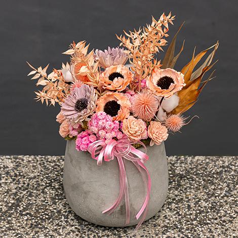 花店情人禮物推薦 義大利進口乾燥盆花 花店 情人禮物 乾燥花