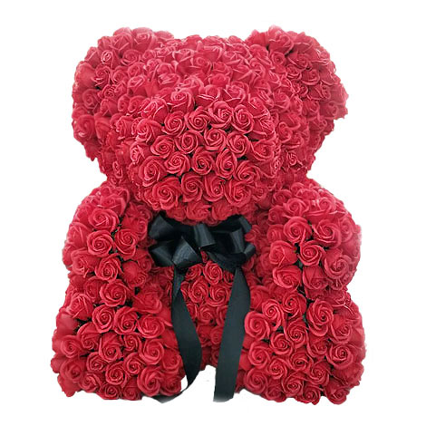 生日禮物送什麼好 客製玫瑰花泰迪熊 擄獲她就靠泰迪熊 泰迪熊 生日禮物 生日禮物送什麼好