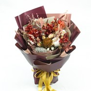 年節禮物 濃情聖誕乾燥花束  花店送花