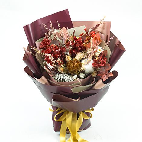 年節禮物 濃情聖誕乾燥花束  花店送花 花束 聖誕節 聖誕節禮物 乾燥花