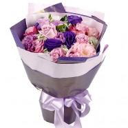 台北花店推薦  紫色玫瑰花束 只要對妳好