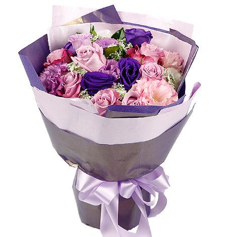 台北花店推薦  紫色玫瑰花束  送禮花束 花束 玫瑰花束 玫瑰花 台北花店推薦