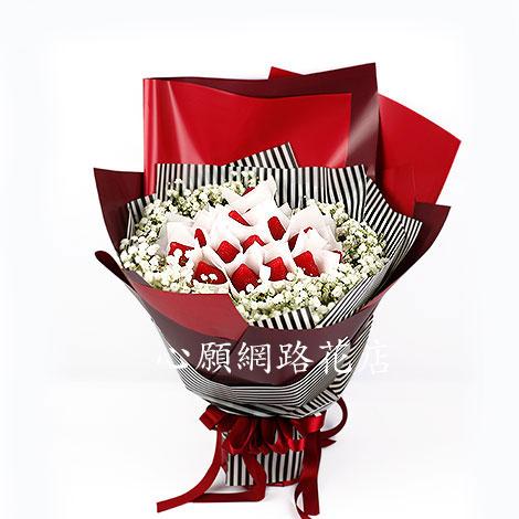 情人節禮物 手工香皂 草莓花束 甜蜜登場 花束 情人節禮物 手工香皂