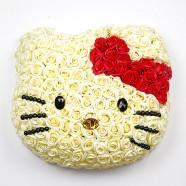 特別生日禮物 客製KITTY可愛玫瑰花 香皂花設計
