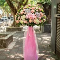展示會花籃 西式藝術花籃 花店代客送花