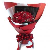 台北花店送花 99朵玫瑰捧花  玫瑰花語