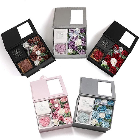 送禮物 祕密花園手工皂花盒 手工香皂 擴香石 香皂 送禮物