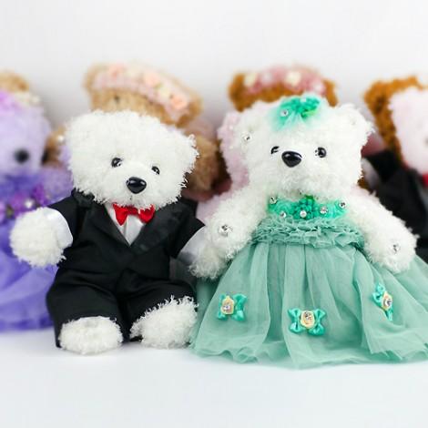 優惠祝福價 結婚禮物推薦 送客禮 璀璨典雅結婚熊 婚禮小物 玩偶 娃娃 安床