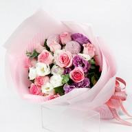 台北花店推薦   粉美麗玫瑰花束  情人花束