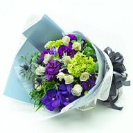 情人首選   抗夏白玫瑰花束  花束外送