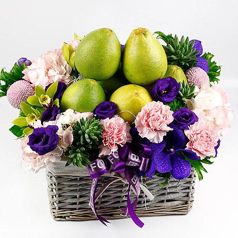 今年中秋節送什麼 香柚水果花禮 網路訂花推 花籃 網路訂花 水果花禮 今年中秋節 中秋節送什麼