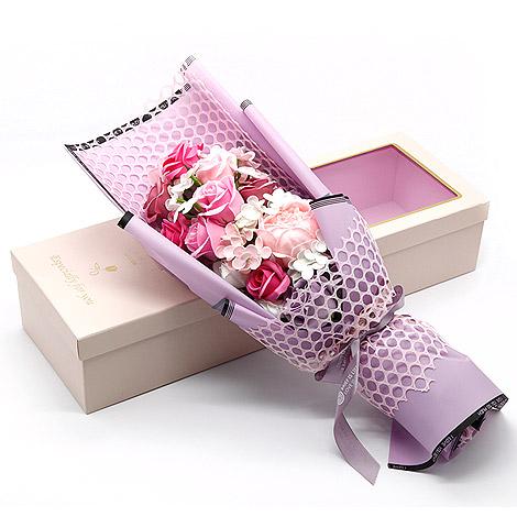 母親節禮物推薦 玫瑰花香皂花束花盒 玫瑰花香皂花束 母親節禮物推薦 玫瑰花束