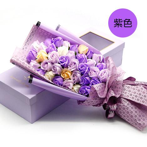 特別禮物  玫瑰香皂花束禮盒 36朵 玫瑰花香皂花束 特別禮物