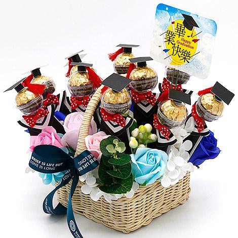 創意畢業禮物 金莎巧克力香皂花禮 畢業創意禮品 畢業禮物 金莎巧克力