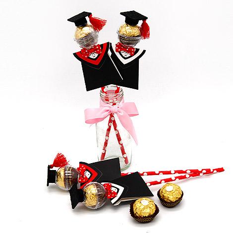 畢業送禮物 學士帽金莎巧克力(10支) 金莎巧克力 畢業送禮物
