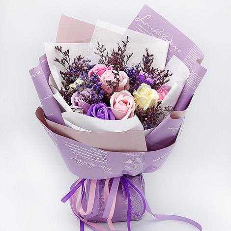 情人節花束 香皂花和乾燥花戀愛了 乾燥花 香皂花 玫瑰香皂花 情人節花束