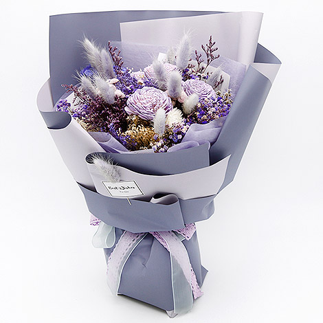 紫為你 乾燥花手工花束 乾燥花 手工花束