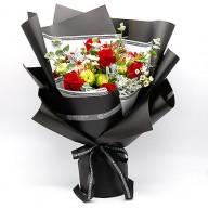 花店全省送花 進口紅玫瑰花束