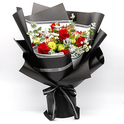 花店全省送花 進口紅玫瑰花束 紅玫瑰花束 全省送花
