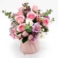 花店送花 清新粉玫瑰 小盆花