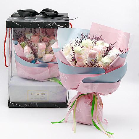 獨家情人節禮物 甜蜜蜜棉花糖花束 花束包裝 棒棒糖花束