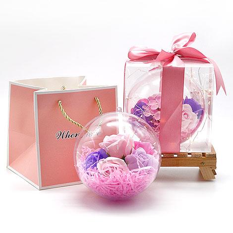 情人節禮品 扭蛋香皂花球 香皂花 扭蛋 情人節禮品