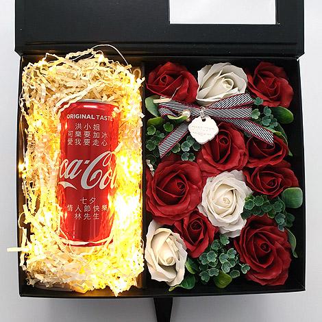 創意特別的禮物 告白可樂香皂花盒 創意情人節禮物