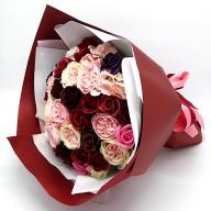 情人節送什麼好 玫瑰花香皂花束