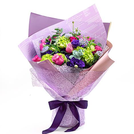 花店訂花 紫愛您情人玫瑰花束 玫瑰花束 情人花束 花店訂花