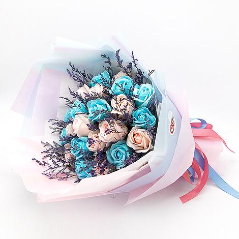 台北市花店 玫瑰花香皂花束