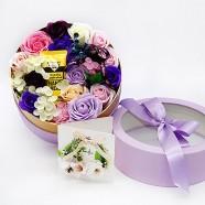 教師節禮物 送老師玫瑰花盒 KISSME護手霜