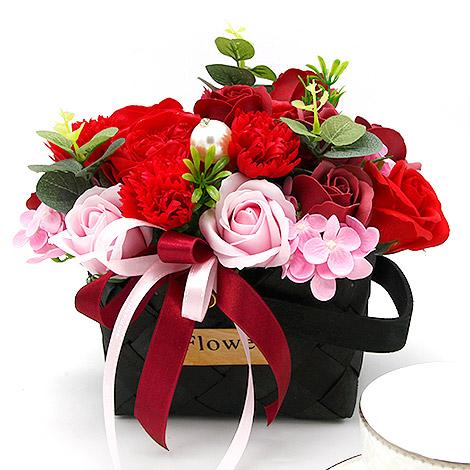 母親節送花 討喜康乃馨香皂盆花 母親節送花 康乃馨盆花 康乃馨