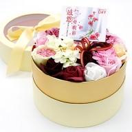 送媽媽禮物 滿心歡喜康乃馨香皂花禮盒