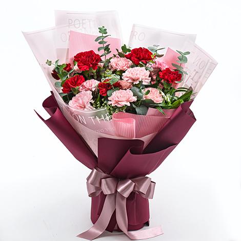母親節送什麼禮物 推薦康乃馨高雅花束 母親節送什麼禮物 康乃馨花束 康乃馨花禮