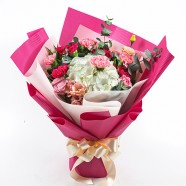 母親節送花到府 最美桃紅色康乃馨花束